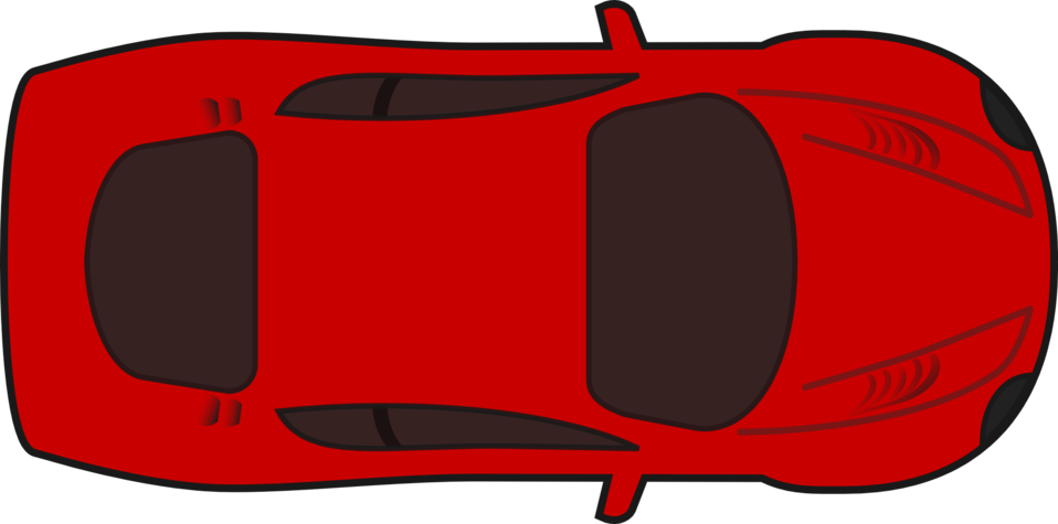 Car clipart top vector free download Public Domain Clip Art Image | Red racing car top view | ID ... vector free download