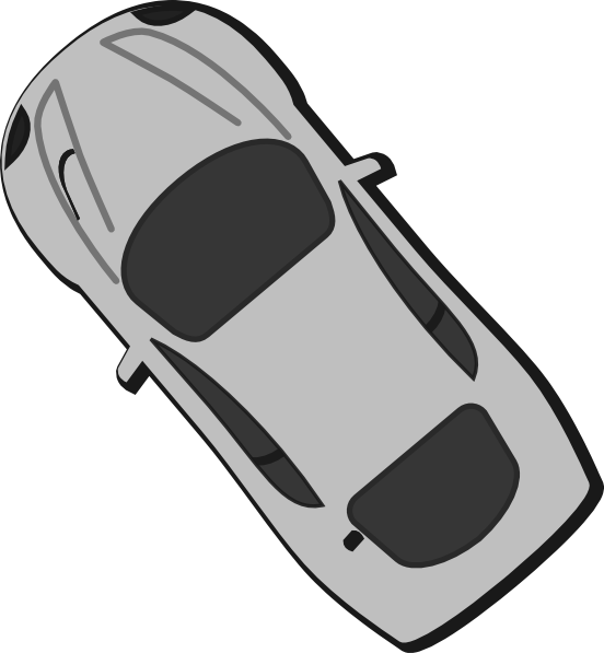 Car clipart top clip royalty free Gray Car - Top View - 130 Clip Art at Clker.com - vector clip art ... clip royalty free