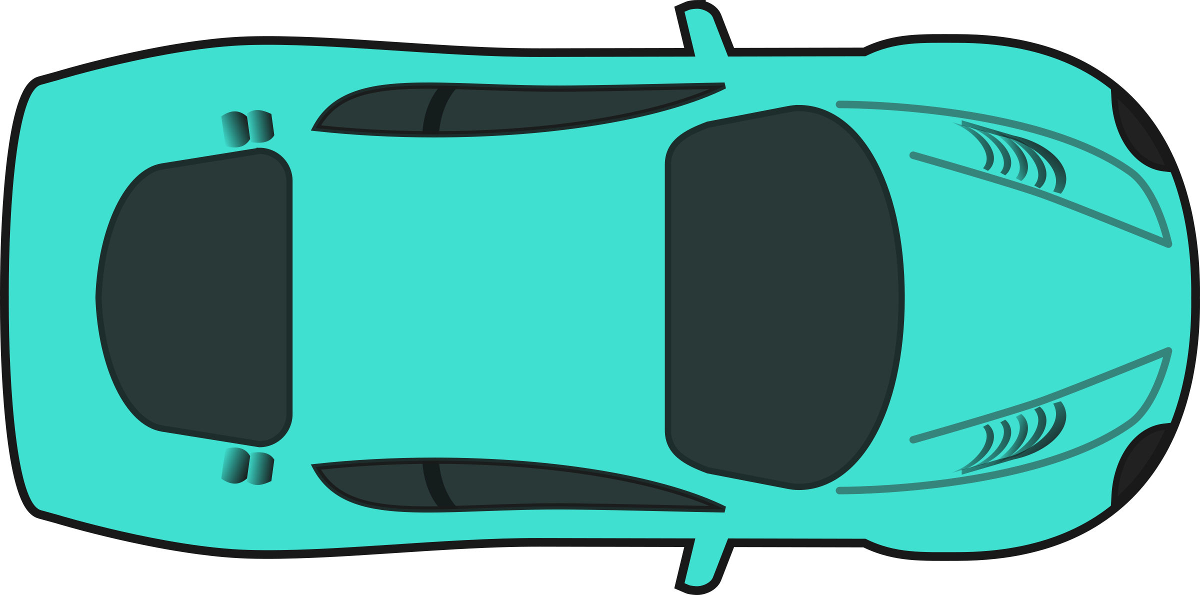 Car top view clipart graphic library download Clipart - Turquois Racing Car (Top View) graphic library download
