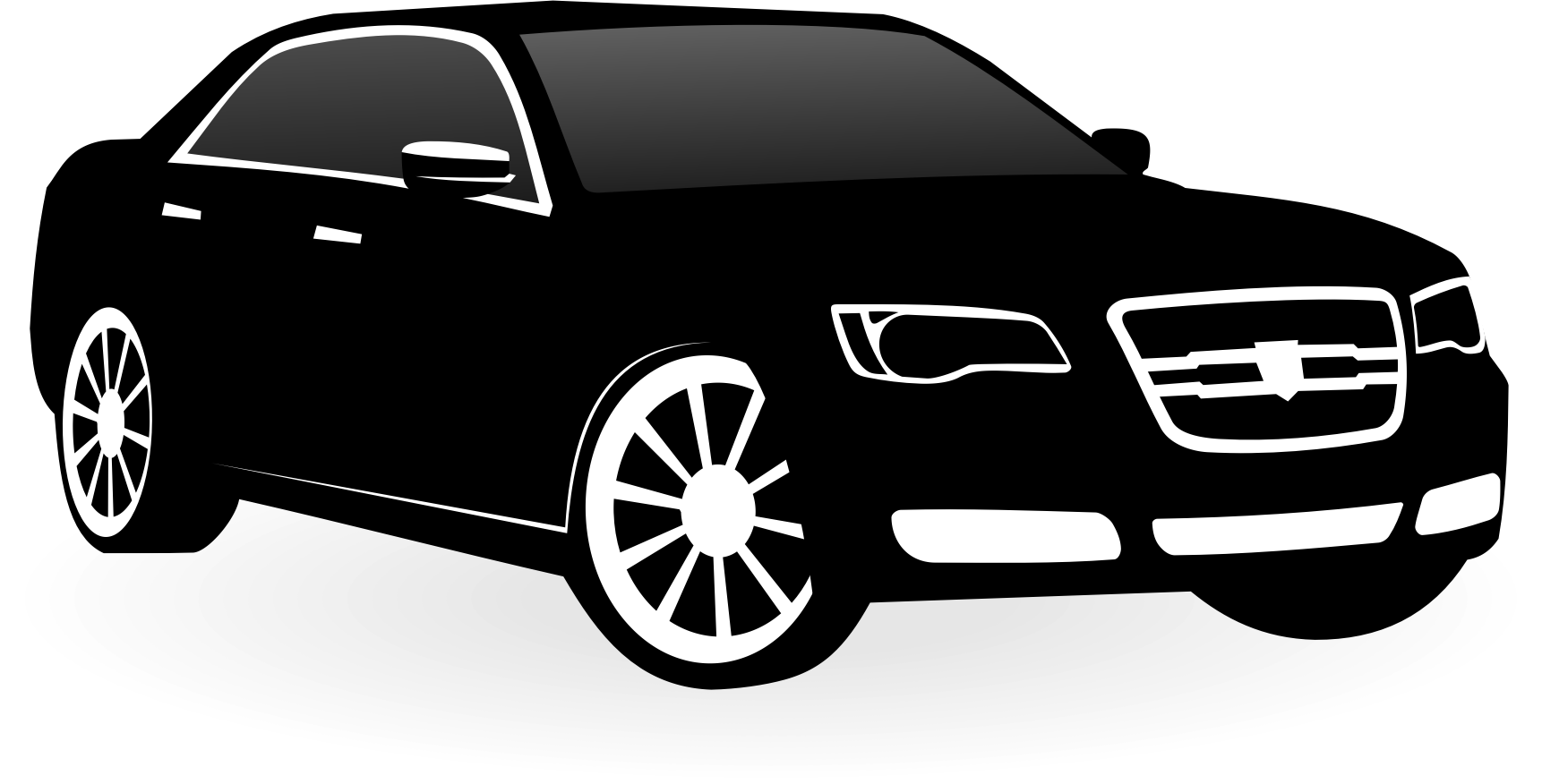 Car clipart vector jpg black and white library Clipart - Chrysler 300c vector jpg black and white library