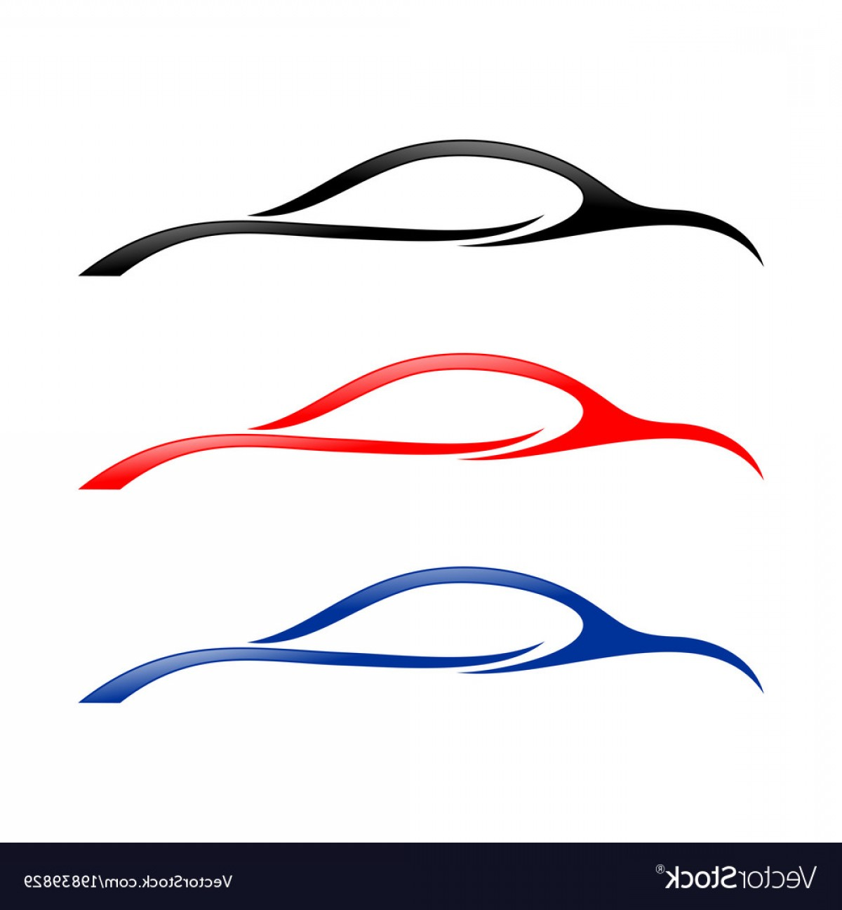 Car clipart with swoosh graphic transparent library Abstract Car Swoosh Shapes Symbol Vector | SOIDERGI graphic transparent library