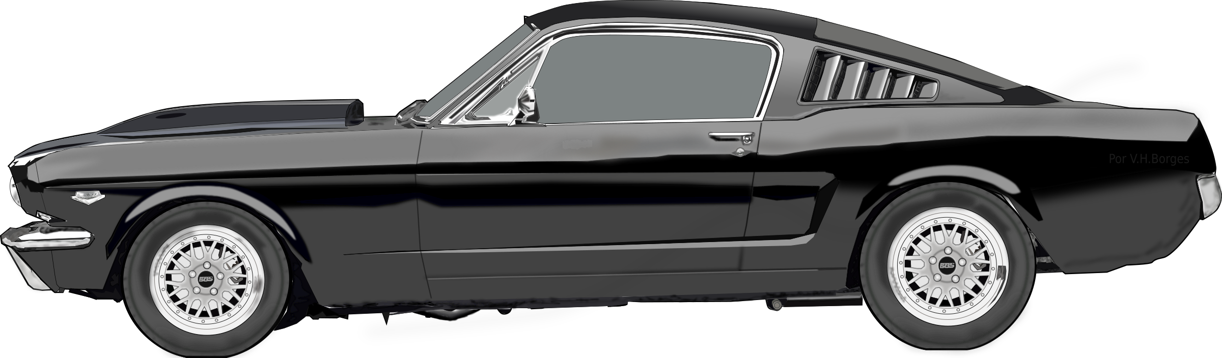 Free classic car clipart jpg black and white Shelby Mustang Clipart | jokingart.com jpg black and white