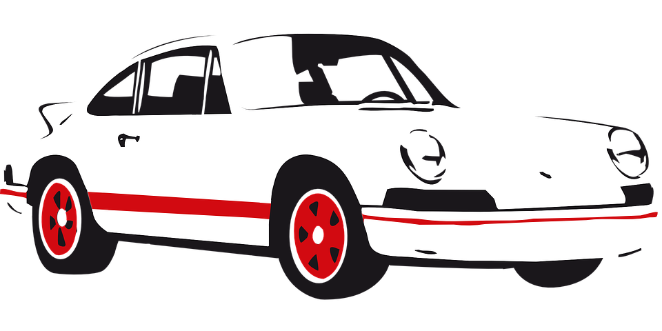 Classic car clipart clipart free stock Porsche Clipart black and white - Free Clipart on Dumielauxepices.net clipart free stock