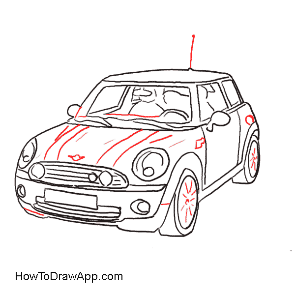 Mini car flame clipart vector transparent library Convertible Car Drawing at GetDrawings.com | Free for personal use ... vector transparent library