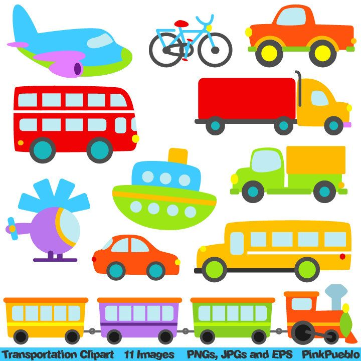 Transportation Clip Art Clipart with Car, Truck, Train, Helicopter ... clip art black and white stock