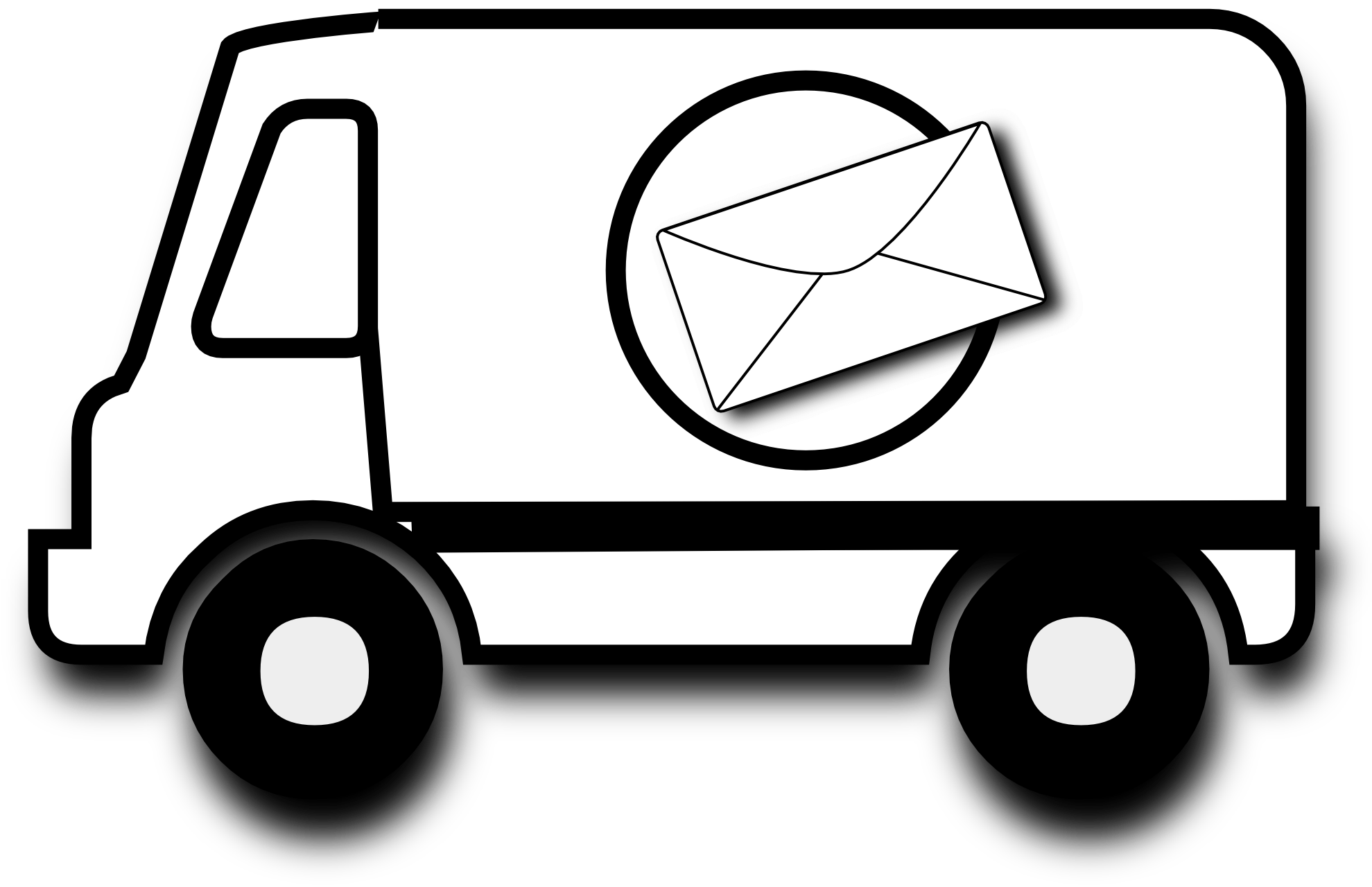 Car crash clipart black and white image transparent library Mail Car Cliparts - Cliparts Zone image transparent library