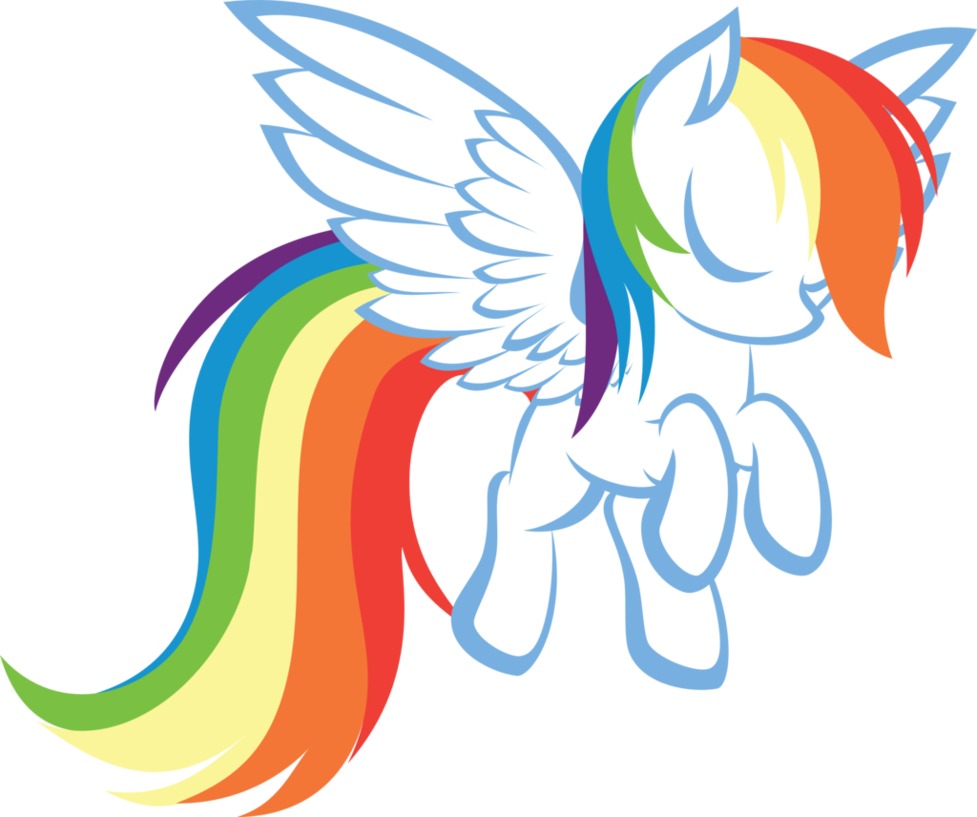 Car dash clipart picture freeuse library Rainbow Dash Silhouette at GetDrawings.com   Free for personal use ... picture freeuse library