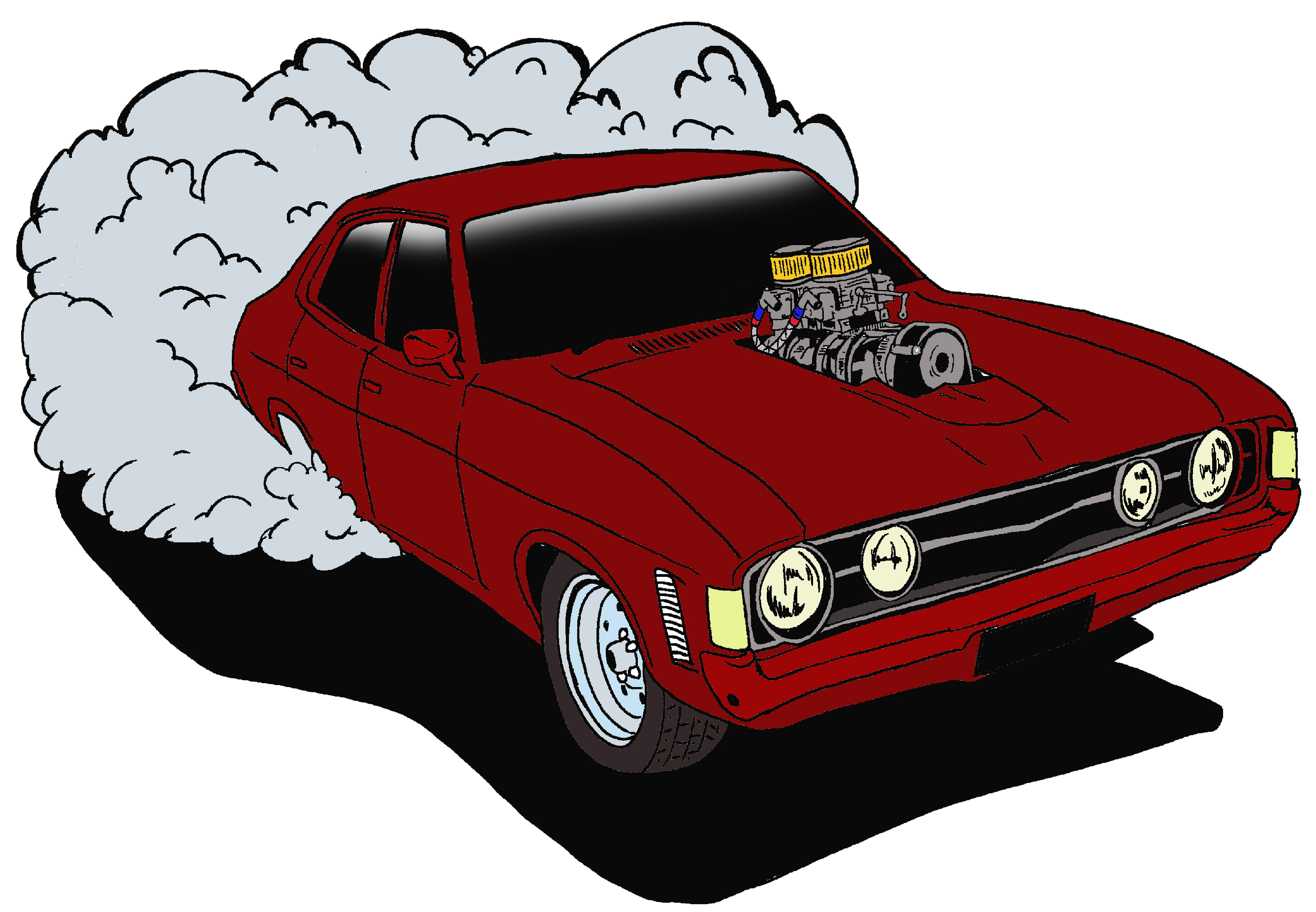 Car doing burnout clipart graphic freeuse Stereo Blast-off graphic freeuse