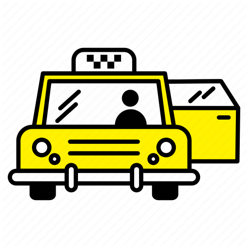 Car door open clipart picture black and white library \'Taxi\' by ibrandify picture black and white library