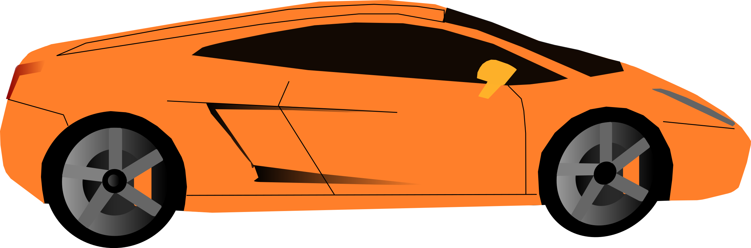 Car doors clipart svg stock Clipart - orange car svg stock