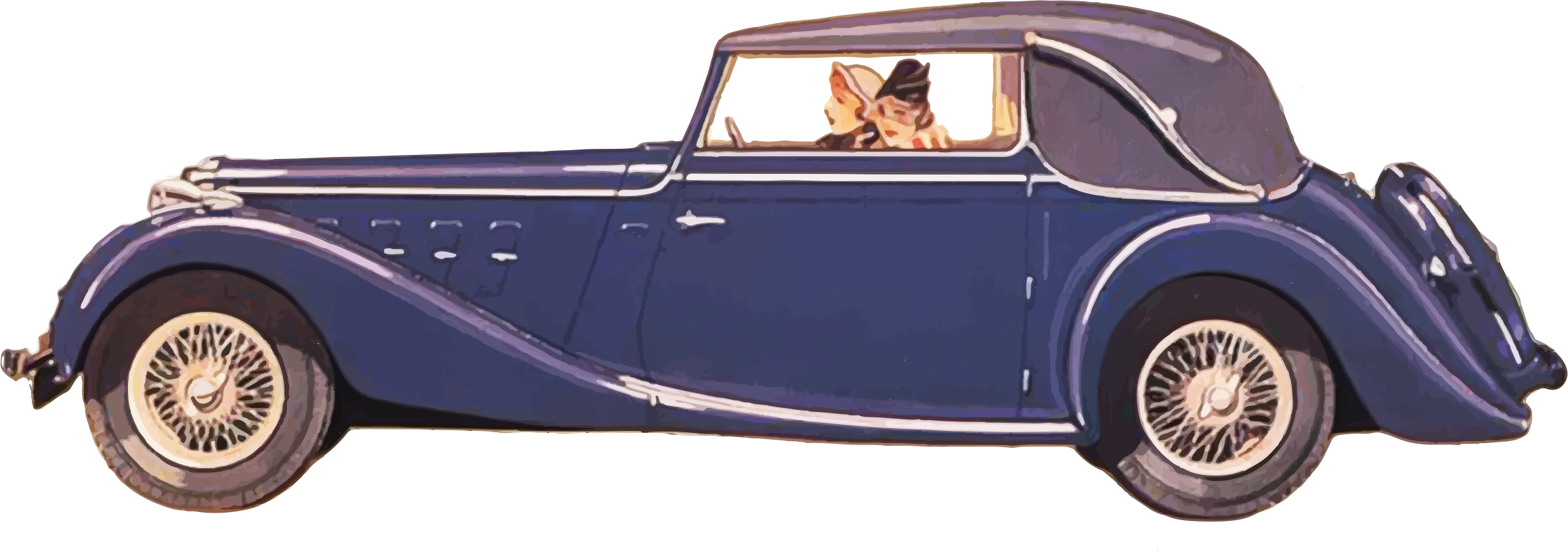 Woman driving car clipart clipart freeuse stock Clipart - Ladies Driving Vintage Car clipart freeuse stock