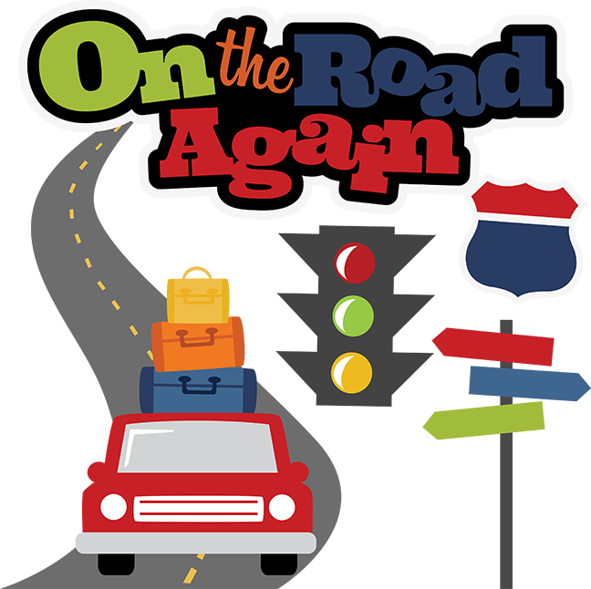 Car trip clipart graphic library stock On The Road Again SVG scrapbook file vacation svg files road trip ... graphic library stock