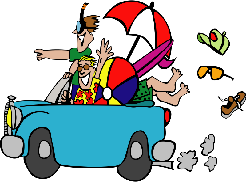 Car driving family clipart svg royalty free download Clipart - Beach Trip svg royalty free download