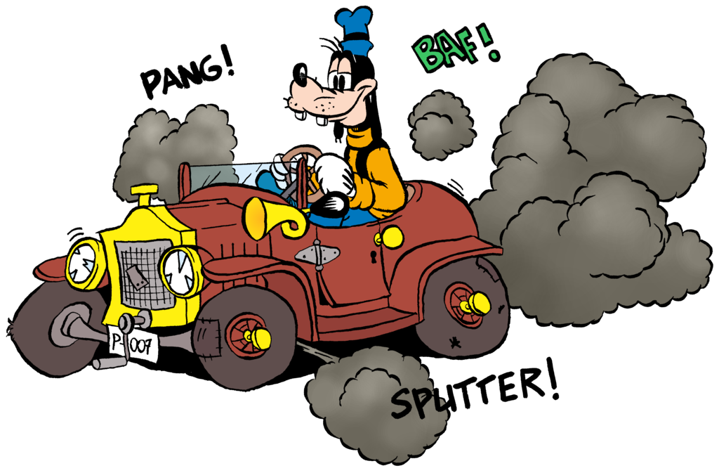 Car driving fast clipart black and white Goofy car trouble by Hidde99 on DeviantArt black and white