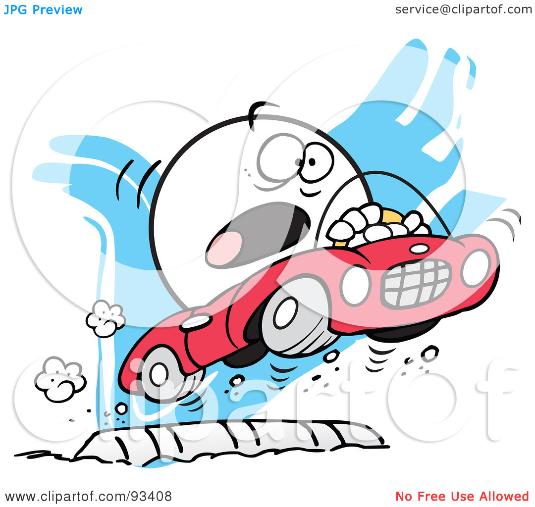 Car driving speed bump clipart banner library stock Royalty-Free (RF) Clipart Illustration of a Moodie Character ... banner library stock