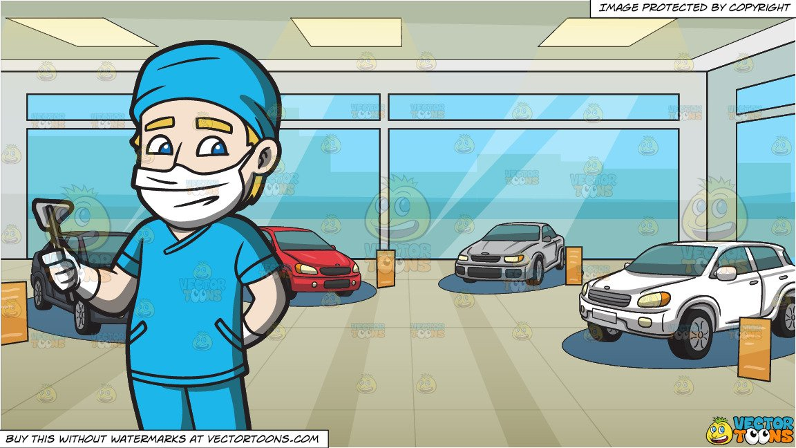 Car duty clipart image library download A Surgeon On Duty and Inside A Car Showroom Background image library download