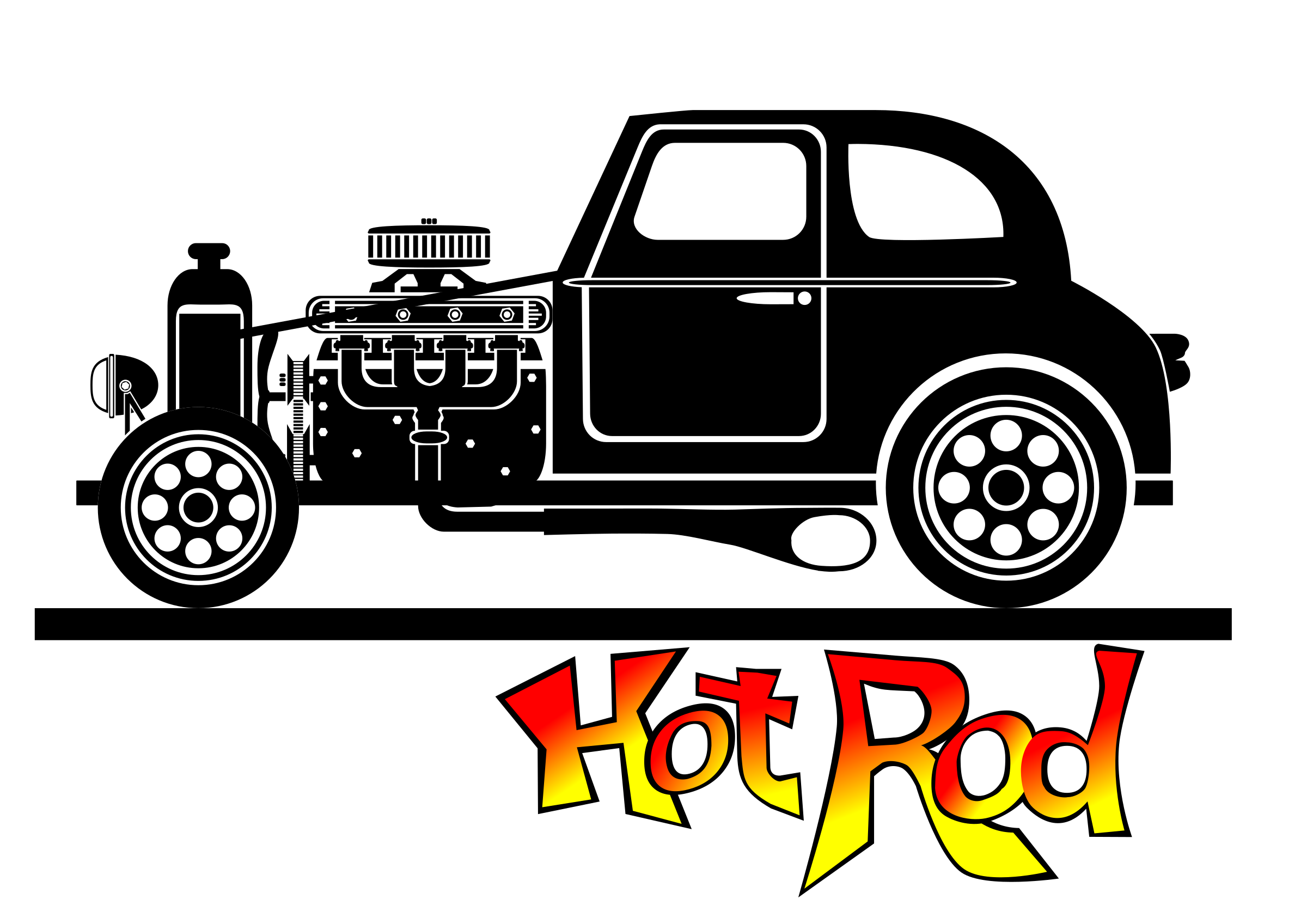 Hot rod car clipart svg black and white download Clipart - Hot rod svg black and white download