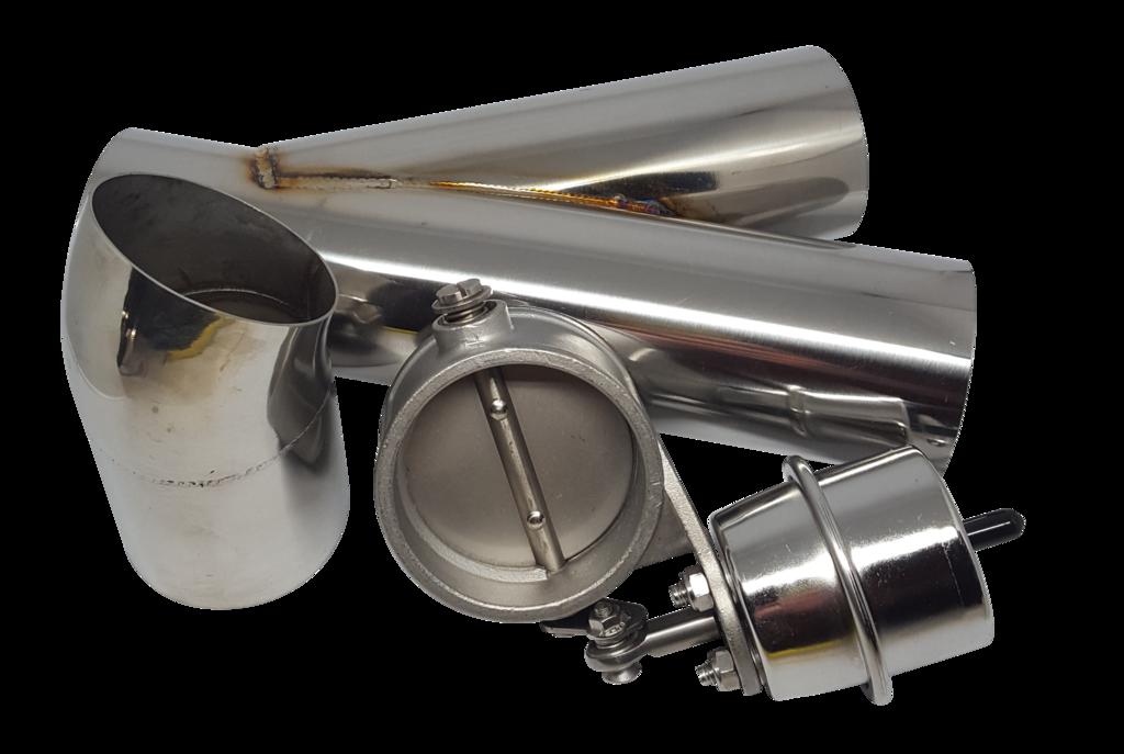 Car exhaust pipe clipart clip art black and white stock Y-pipe, Loudvalve & Turndown kit – LoudValves clip art black and white stock