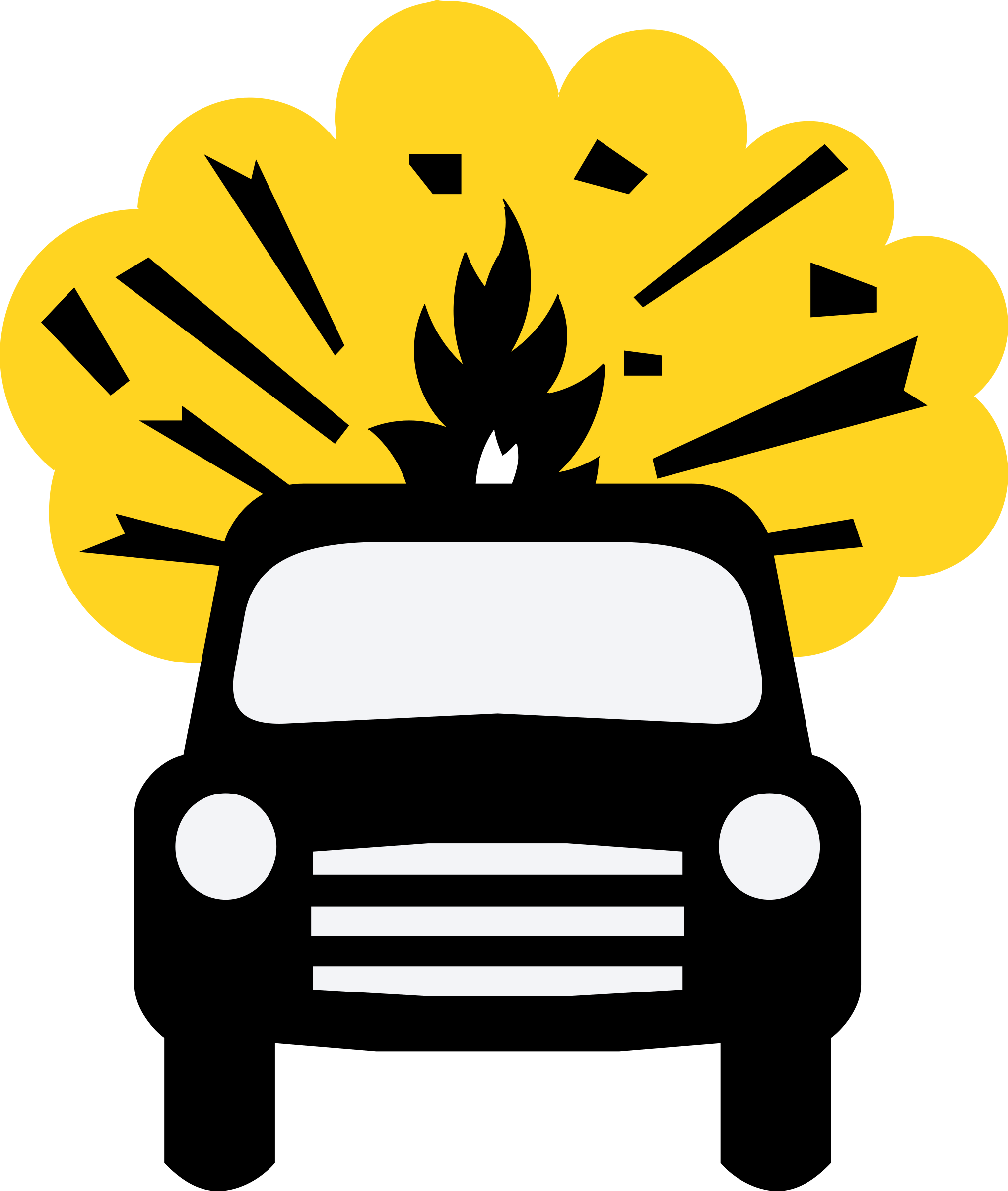 Car explosion clipart picture black and white library Clipart - Car Bomb picture black and white library