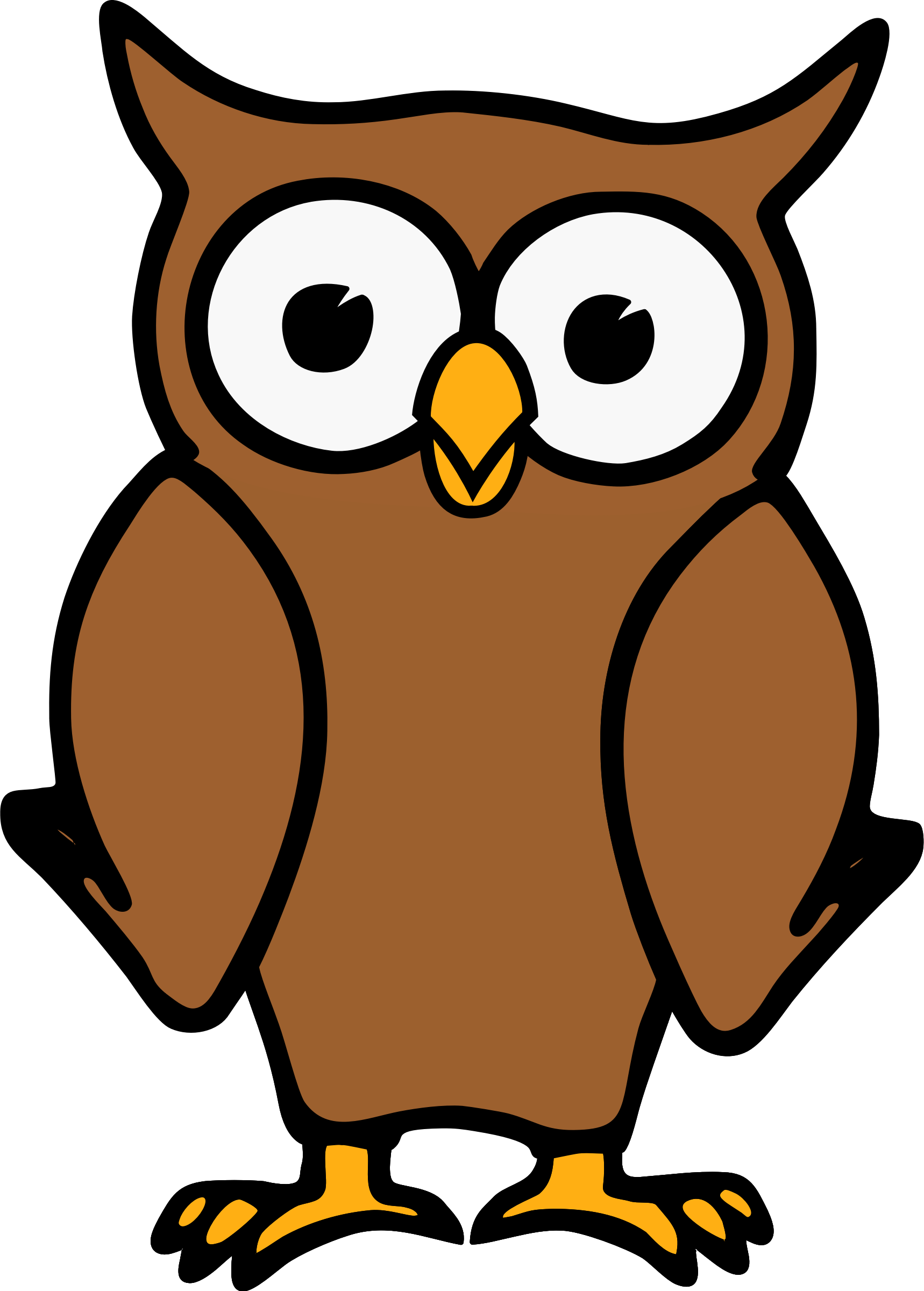 Car facing forward clipart picture library stock Owl by @etourist, Brown cartoon owl standing and facing forward., on ... picture library stock