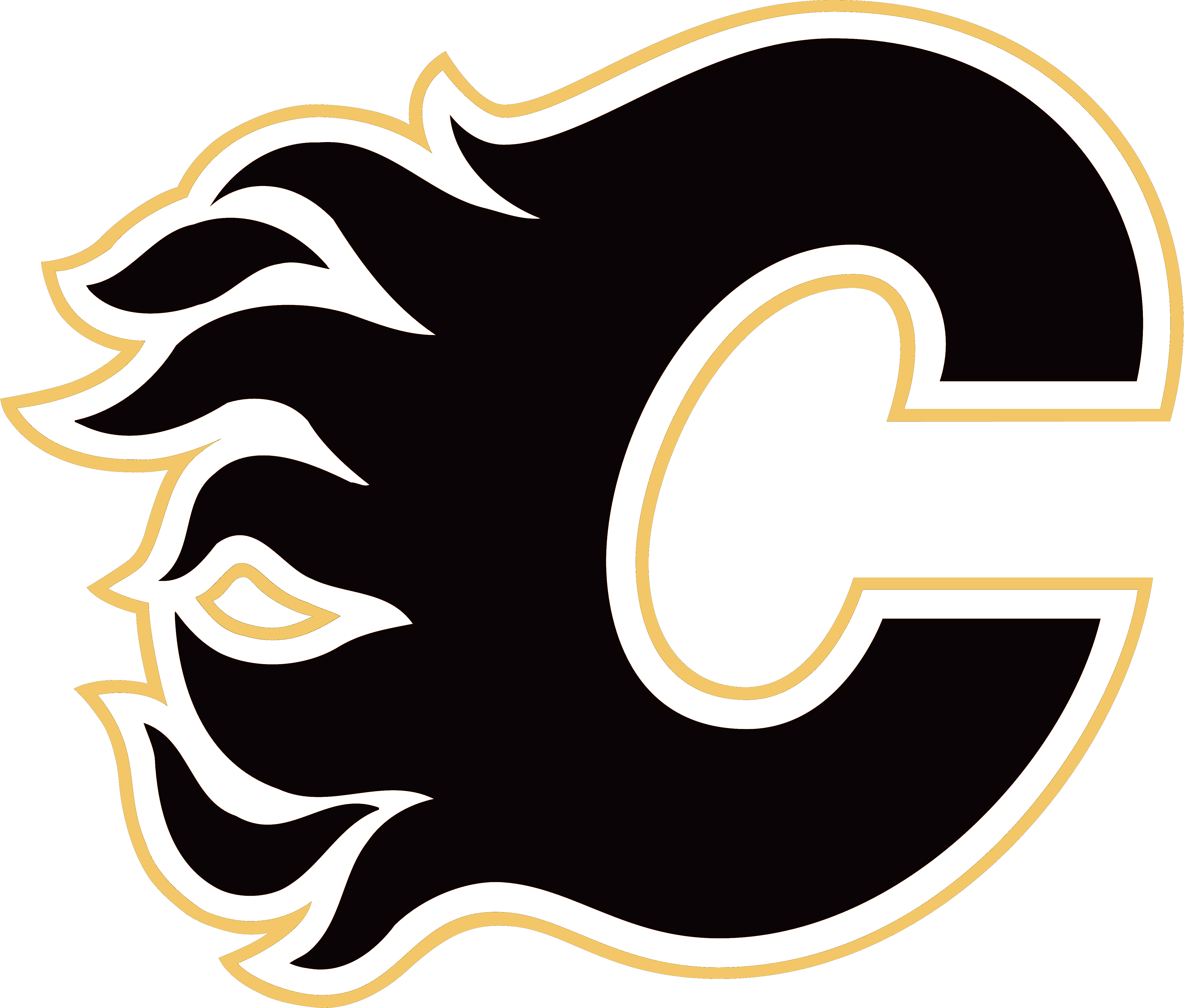 Car flames clipart jpg transparent Calgary Flames – Logos Download jpg transparent