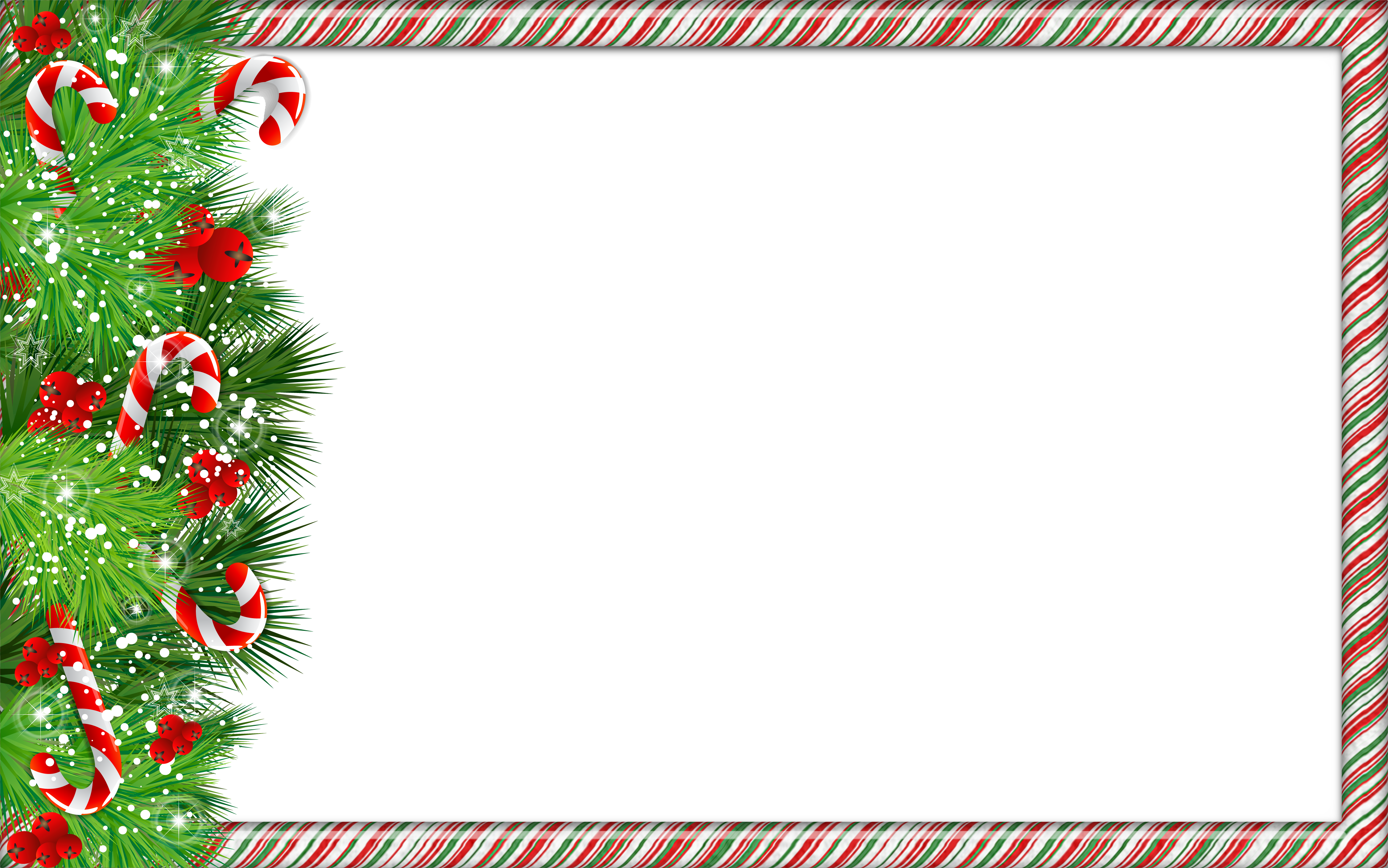 Free christmas clipart borders frames freeuse stock Christmas PNG Photo Frame with Candy Canes | Gallery Yopriceville ... freeuse stock