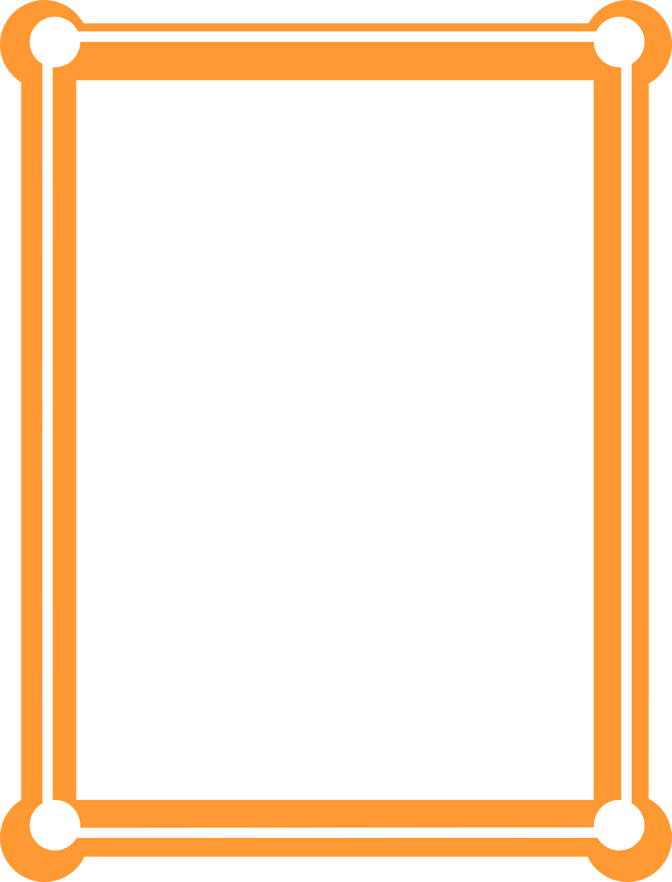 Car frame clipart png royalty free download Orange Border Frame PNG Picture | PNG Mart png royalty free download