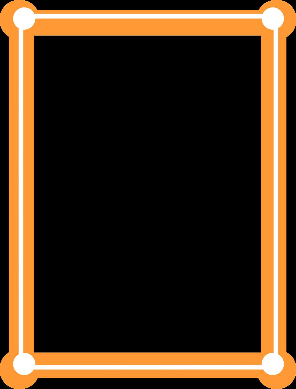 Orange flower border clipart jpg black and white library Orange Border Frame PNG Picture | PNG Mart jpg black and white library