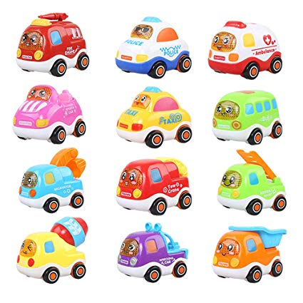 Car friction clipart png black and white library Amazon.com: CHAFIN Mini Inertia Car Toys Friction Push and Go ... png black and white library