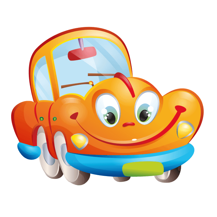 Car from behind clipart png Behind the Wheel Wall Decors for Kids, Yellow car Sticker png
