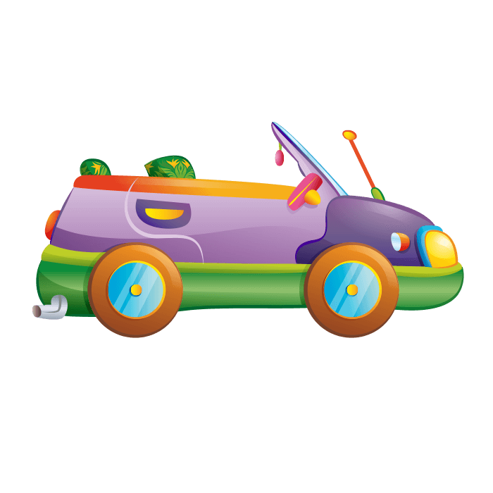 Car from behind clipart clip library Behind the Wheel Wall Decors for Kids, Yellow car Sticker clip library