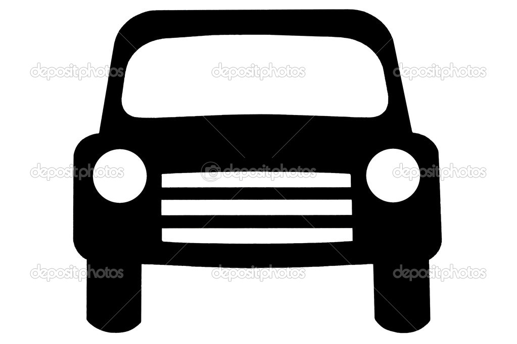 Car front clipart black and white black and white library Black Car Clip Art   eSKAY black and white library