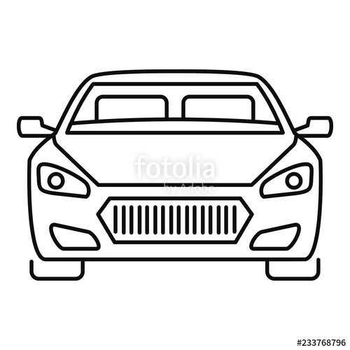 Car front clipart black and white free download Collection of Car front clipart   Free download best Car front ... free download