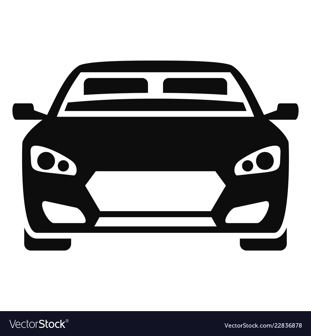 Car front vector clipart transparent download Front modern car icon simple style transparent download