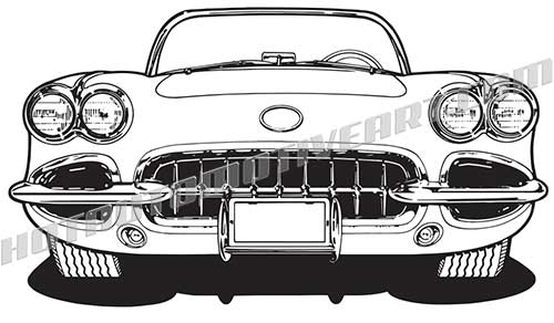Car front vector clipart png free download 1060 Sports Car Front View - VECTOR png free download
