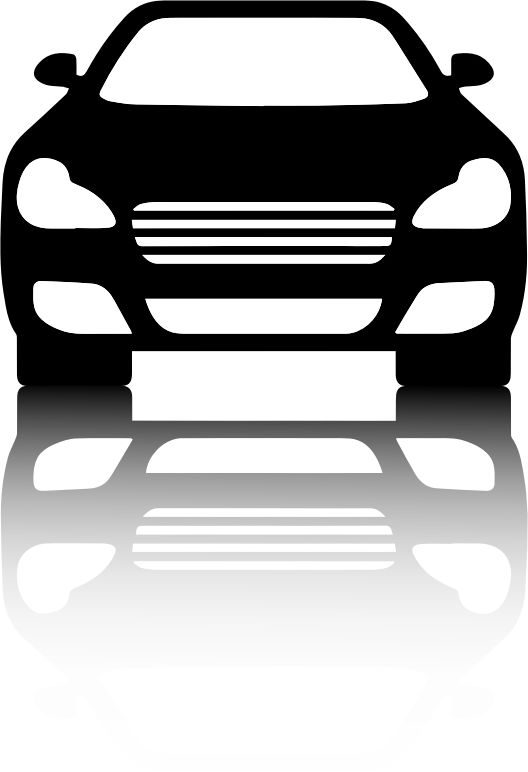 Car front view clipart vector royalty free library Clipart - Black Car Front View With Shadow vector royalty free library