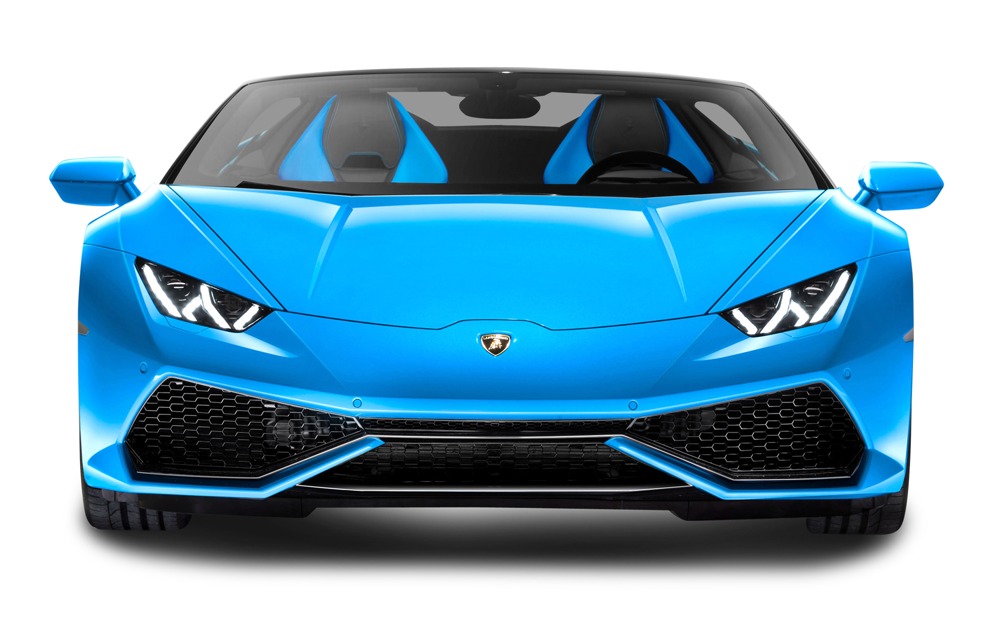 Car front view clipart vector Blue Lamborghini Huracan LP 610 4 Spyder Front View Car PNG Image ... vector