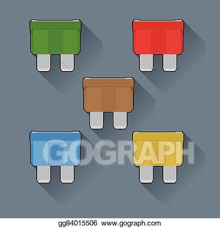 Car fuse clipart jpg library stock Vector Clipart - Fuses. Vector Illustration gg84015506 - GoGraph jpg library stock