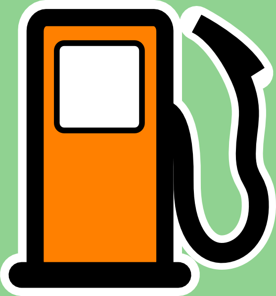 Gasoline car clipart