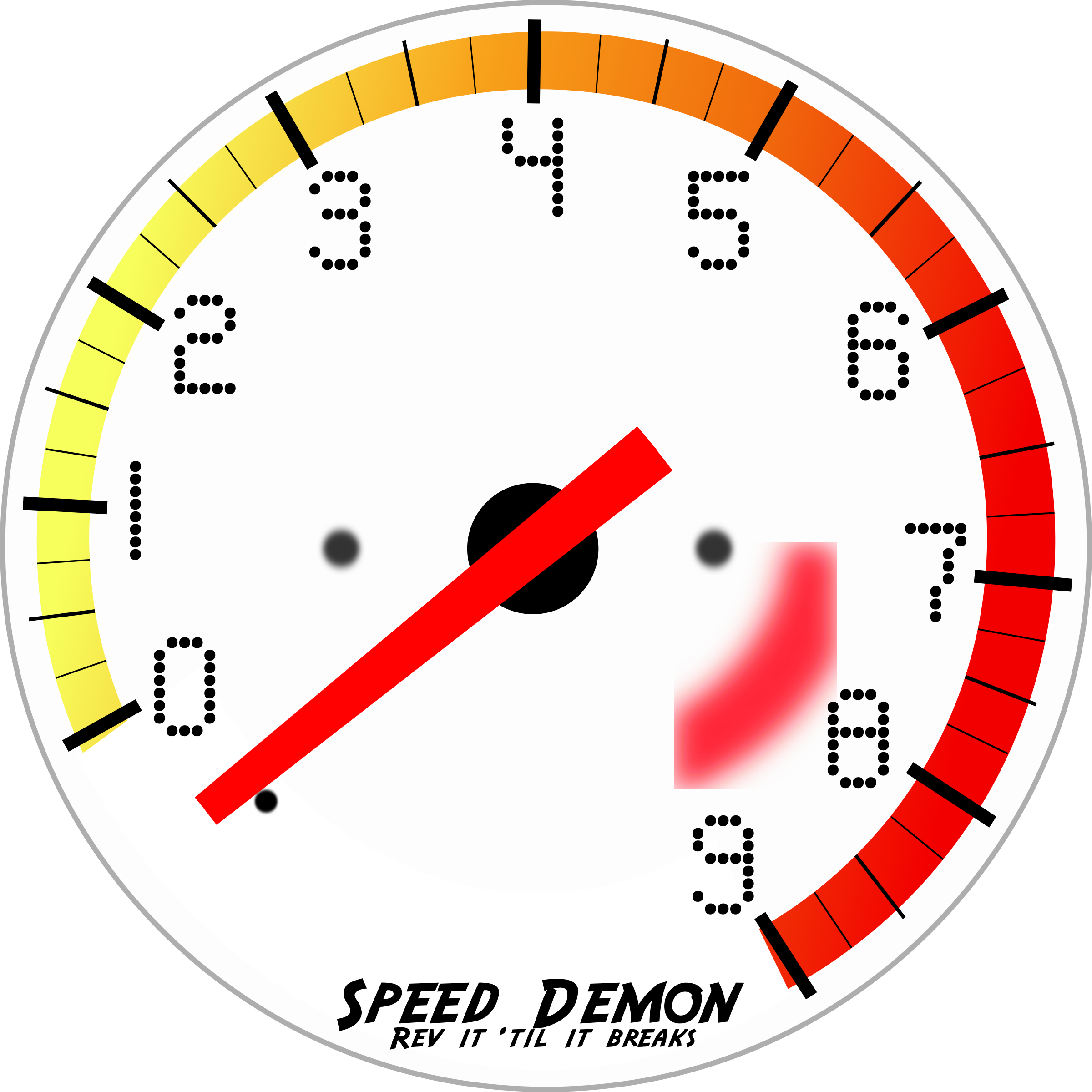 Car gauge clipart image free Clipart - Tachometer image free