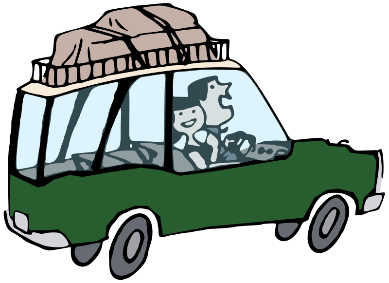 Car going clipart picture black and white Clipart - Going On Holiday - Colour picture black and white