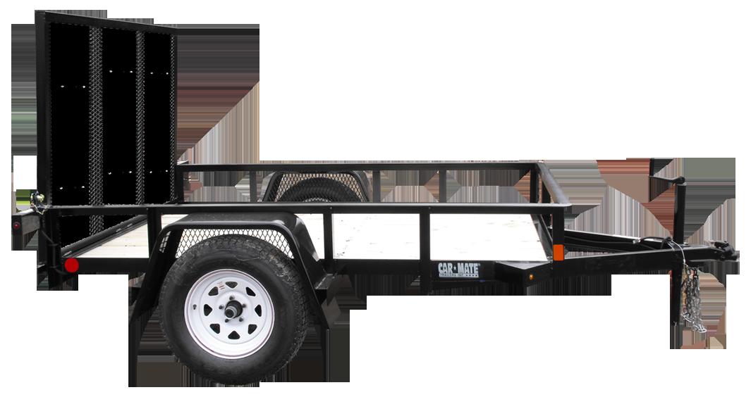 Car hauler trailer clipart clipart royalty free library Angle Iron - Single Axle - Car Mate Trailers, Inc clipart royalty free library