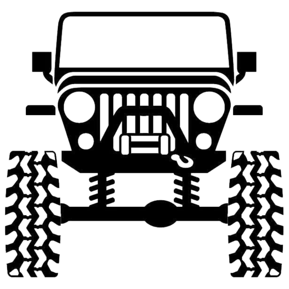 Car headlights clipart image free Lifted Jeep – SLED-DECALS.com image free