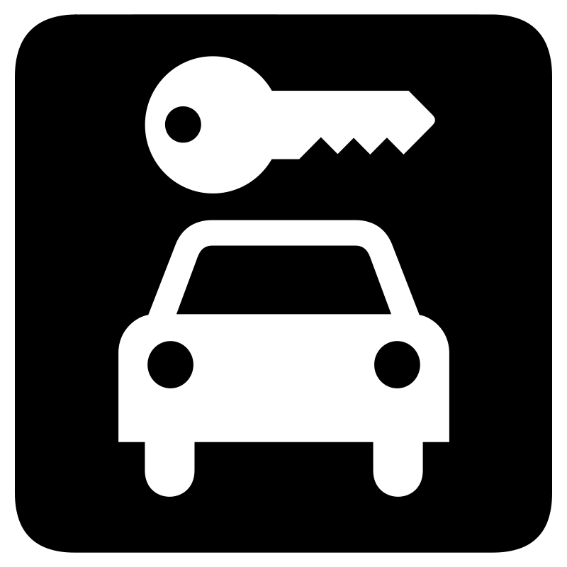 Car hire clipart vector freeuse stock Free Clipart: Aiga car rental bg | Anonymous vector freeuse stock