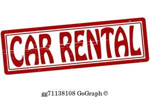 Car hire clipart image free library Car Rental Clip Art - Royalty Free - GoGraph image free library