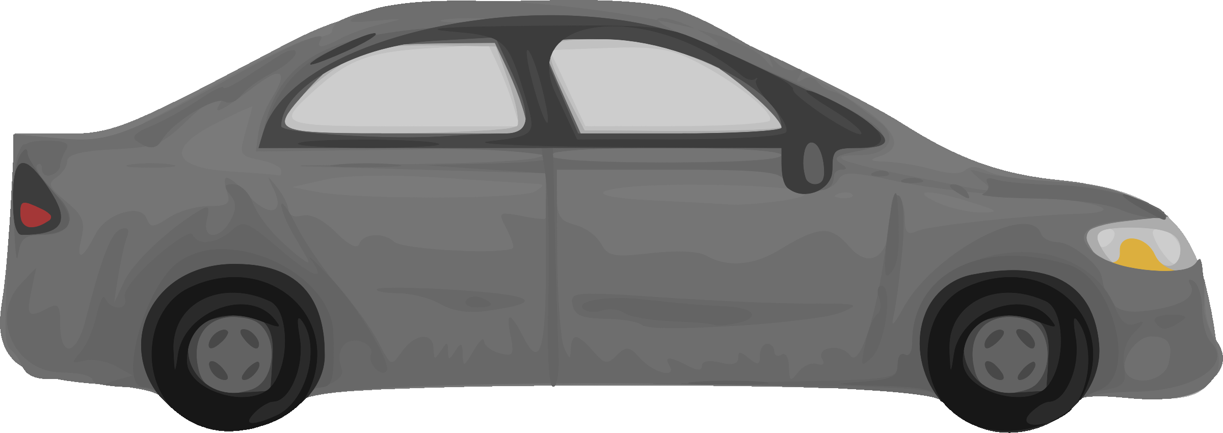 Car with hood open clipart png freeuse download Clipart - Rough car (grey) png freeuse download
