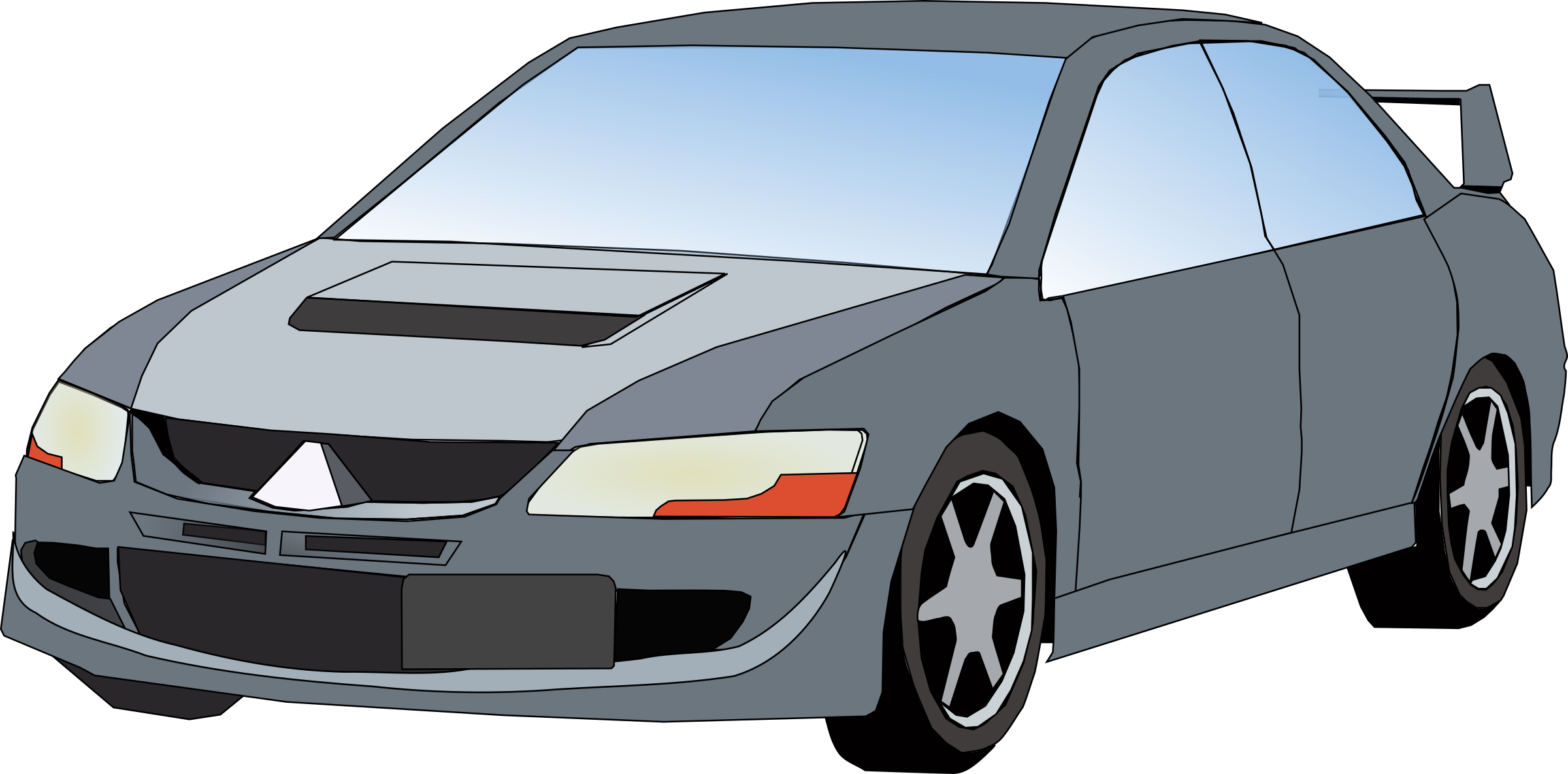 Car hood clipart graphic transparent library Clipart - car Mitsubishi graphic transparent library