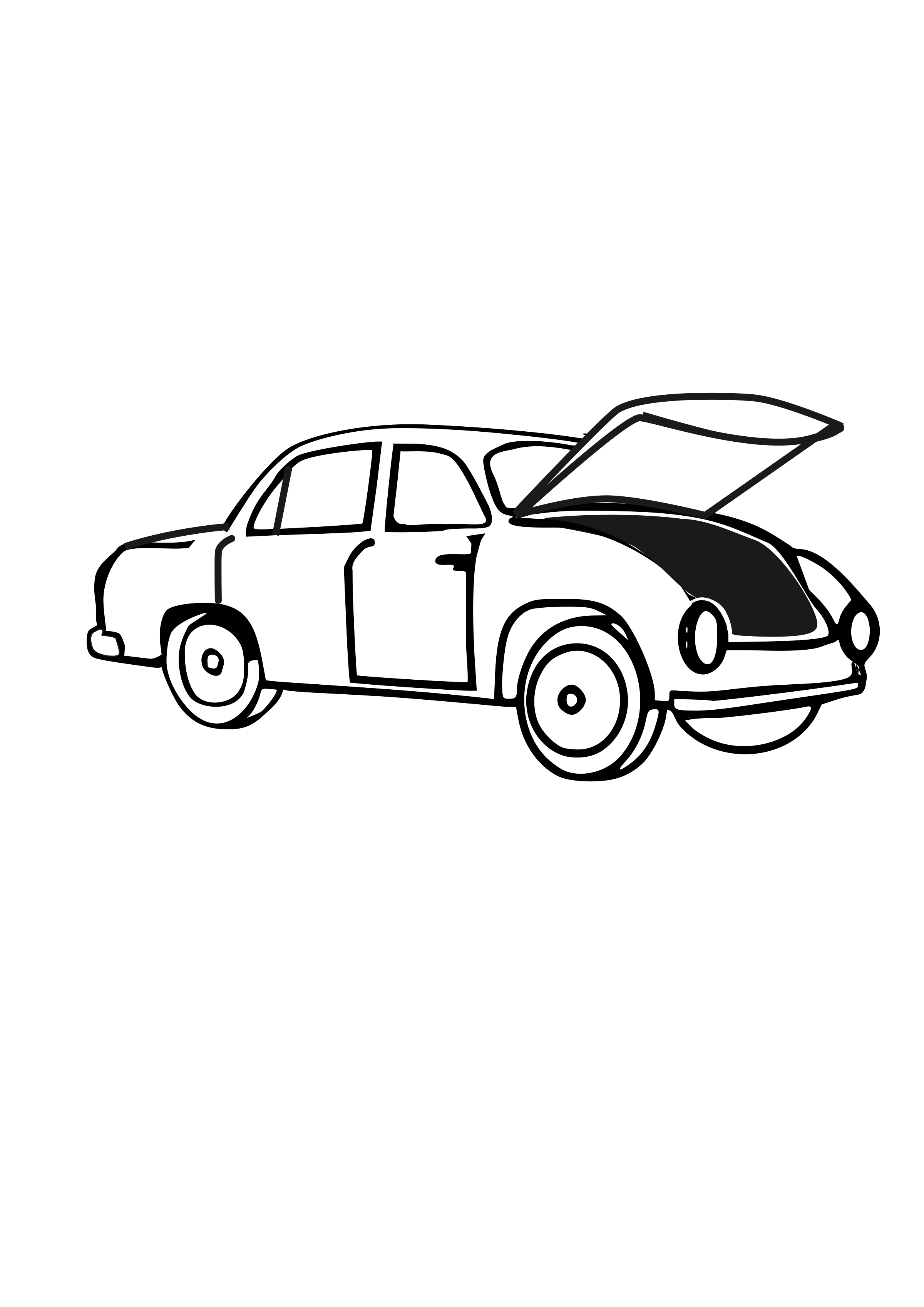 Car with hood open clipart picture black and white Clipart - Car with open trunk picture black and white