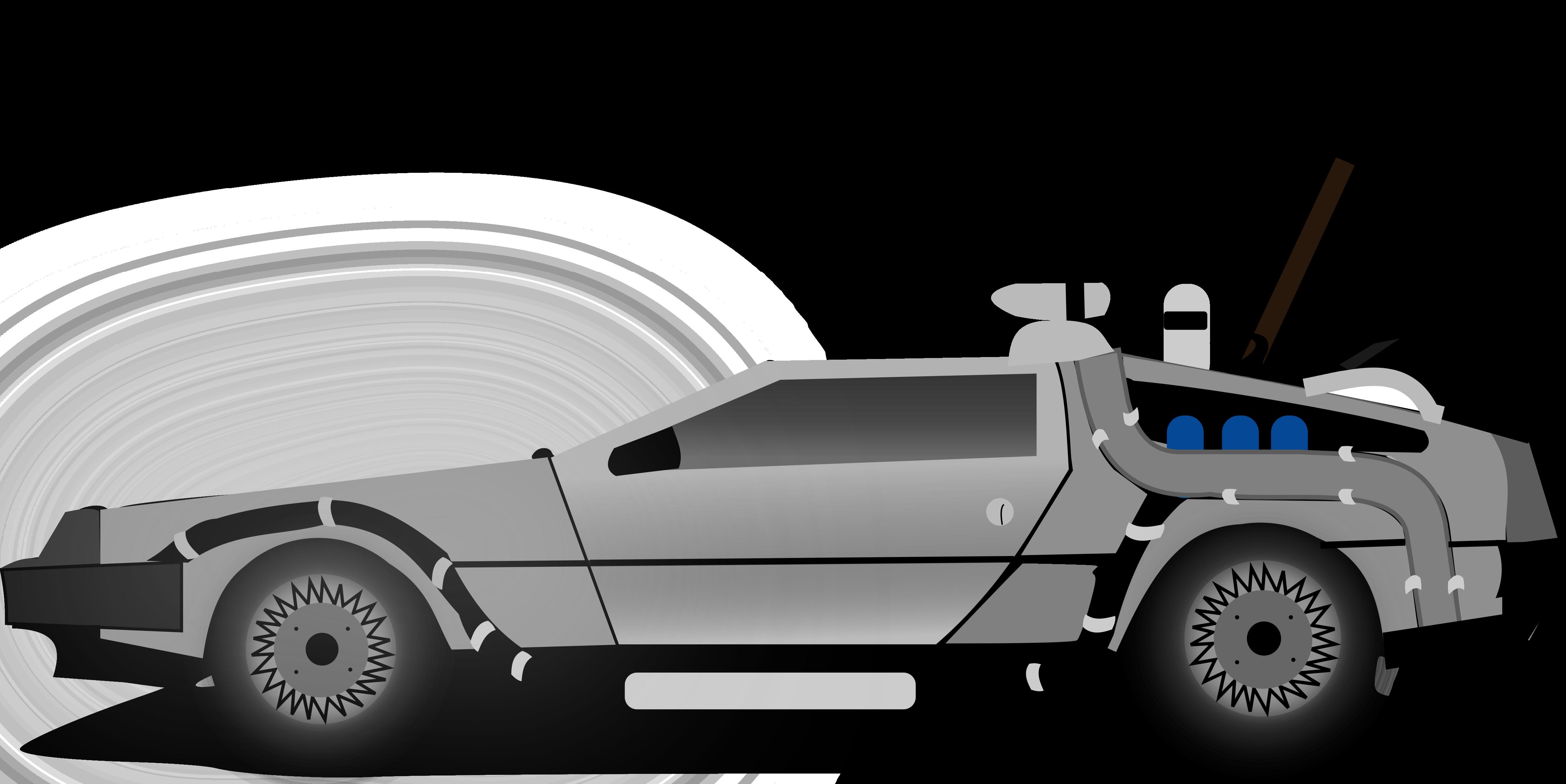 Future car clipart image transparent Clipart - Car delorean image transparent