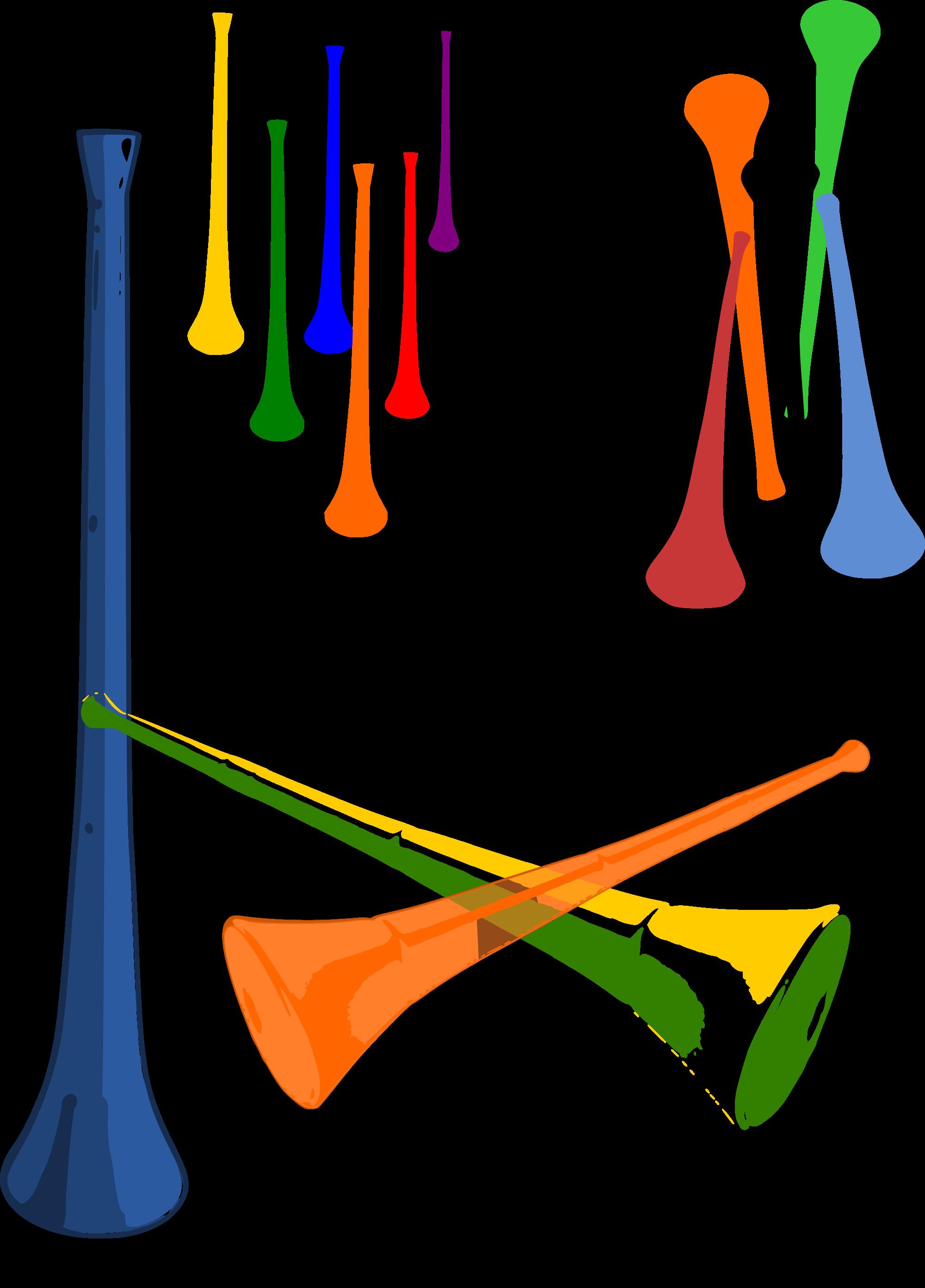 Car horn clipart graphic transparent File:Vuvuzelas.svg - Wikimedia Commons graphic transparent